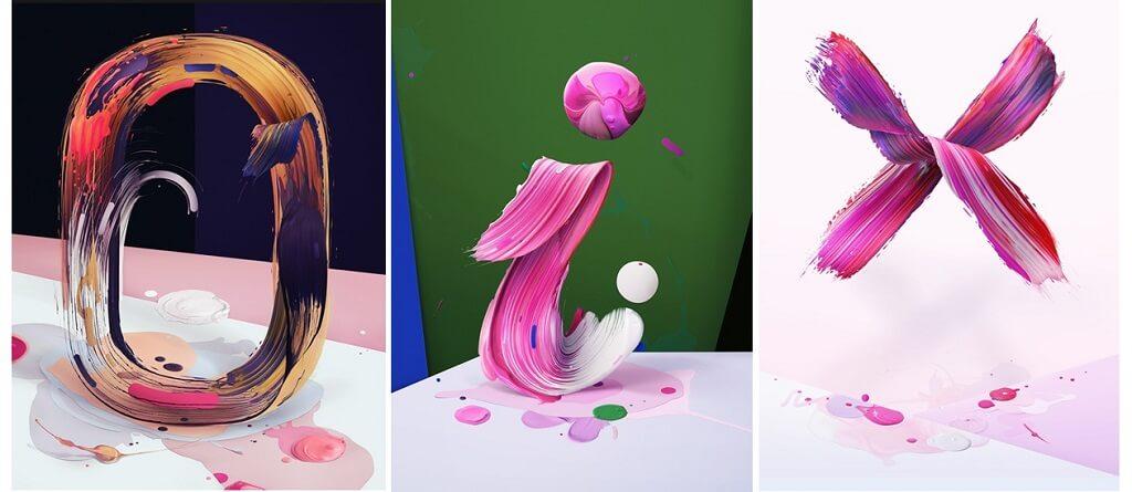 3D struktury a ziarive farby