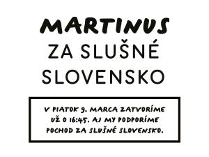 Martinus za slušné Slovensko